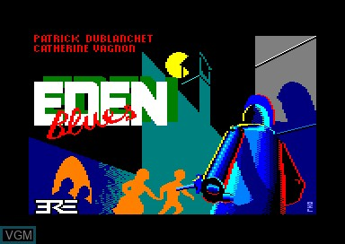 Title screen of the game Eden Blues on Amstrad CPC