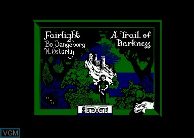 Title screen of the game Fairlight 2 on Amstrad CPC
