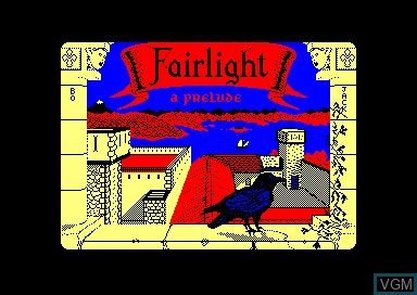 Title screen of the game Fairlight - A Prelude on Amstrad CPC