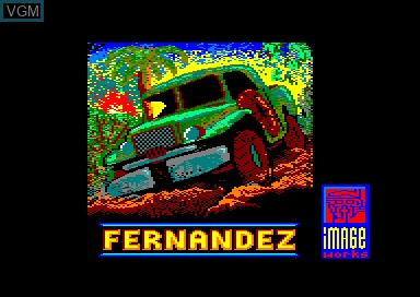 Title screen of the game Fernandez Must Die on Amstrad CPC