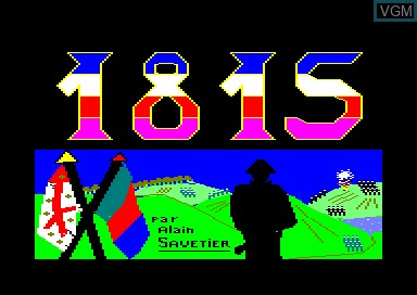 Title screen of the game 1815 on Amstrad CPC