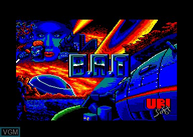 Title screen of the game B.A.T. on Amstrad CPC