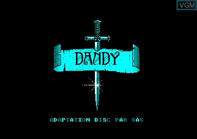 Title screen of the game Dandy on Amstrad CPC