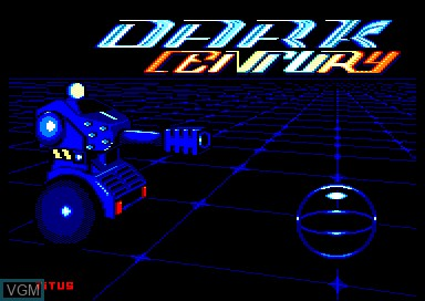 Title screen of the game Dark Century on Amstrad CPC