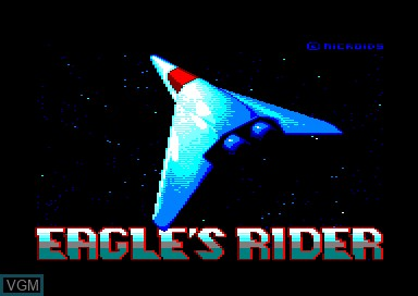 Title screen of the game Eagle's Rider on Amstrad CPC