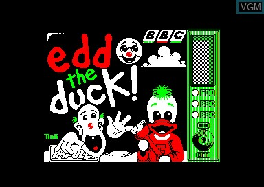 Title screen of the game Edd The Duck on Amstrad CPC