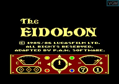 Title screen of the game Eidolon, The on Amstrad CPC
