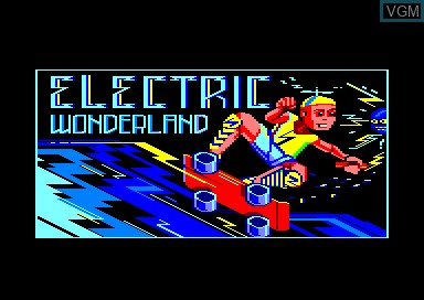 Title screen of the game Electric Wonderland on Amstrad CPC