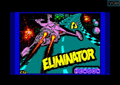Title screen of the game Eliminator on Amstrad CPC