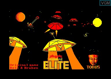 Title screen of the game Elite on Amstrad CPC