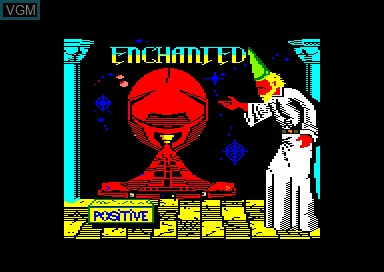 Title screen of the game Enchanted on Amstrad CPC