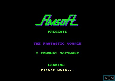 Title screen of the game Fantastic Voyage, The on Amstrad CPC