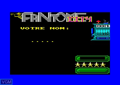 Title screen of the game Fantome City on Amstrad CPC