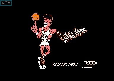 Title screen of the game Fernando Martin Basket Master on Amstrad CPC