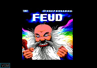 Title screen of the game Feud on Amstrad CPC