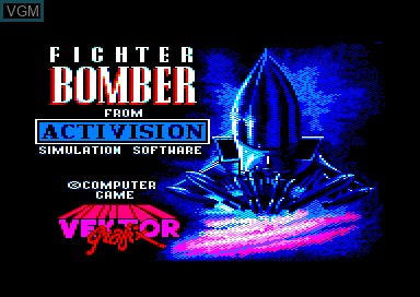 Title screen of the game Fighter Bomber on Amstrad CPC