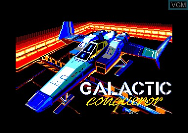 Title screen of the game Galactic Conqueror on Amstrad CPC