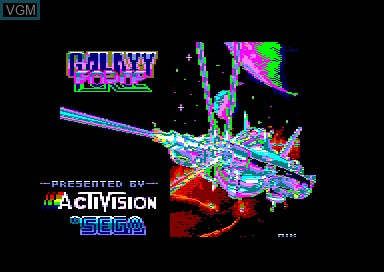 Title screen of the game Galaxy Force on Amstrad CPC