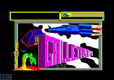 Title screen of the game Gallitron on Amstrad CPC