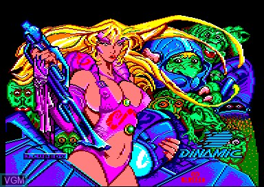 Title screen of the game Game Over II on Amstrad CPC