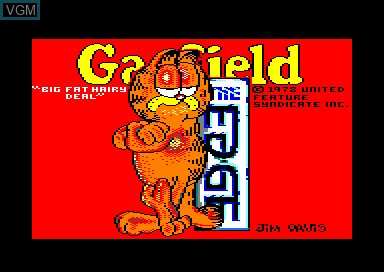 Title screen of the game Garfield - Big Fat Hairy Deal on Amstrad CPC