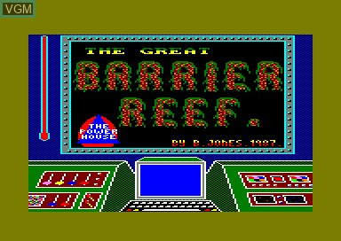 Title screen of the game Great Barrier Reef, The on Amstrad CPC