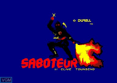 Title screen of the game Saboteur on Amstrad CPC