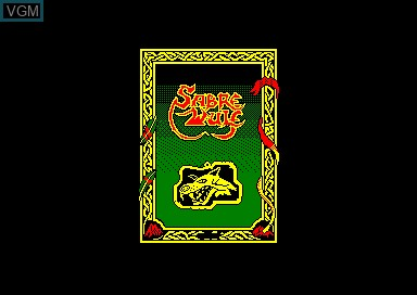 Title screen of the game Sabre Wulf on Amstrad CPC