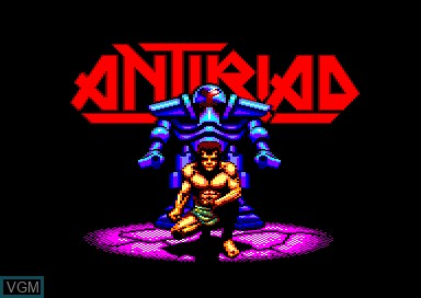 Title screen of the game Sacred Armour of Antiriad, The on Amstrad CPC