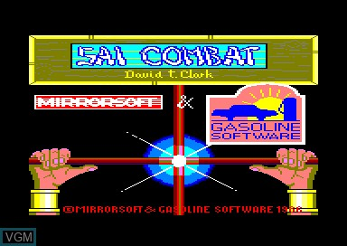 Title screen of the game Sai Combat on Amstrad CPC