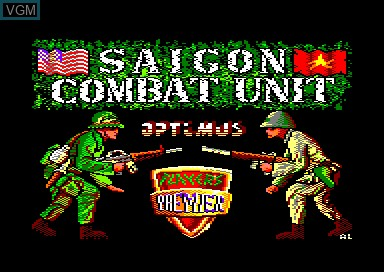 Title screen of the game Saigon Combat Unit on Amstrad CPC