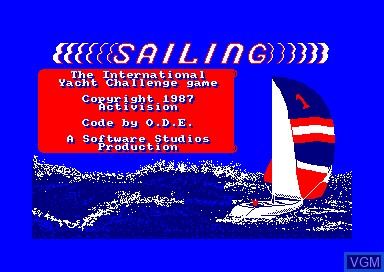 Title screen of the game Sailing on Amstrad CPC