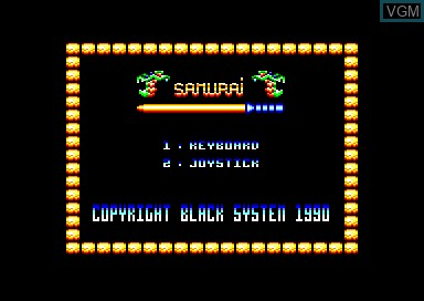 Title screen of the game Samurai on Amstrad CPC