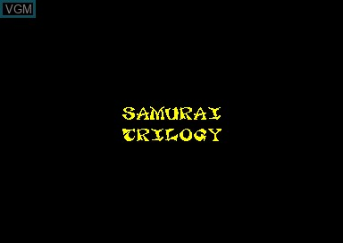Title screen of the game Samurai Trilogy on Amstrad CPC