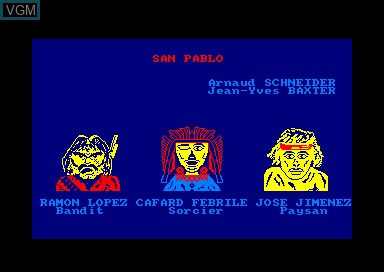 Title screen of the game San Pablo on Amstrad CPC
