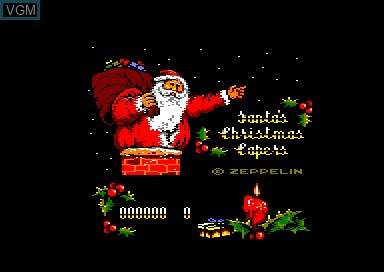 Title screen of the game Santa's Christmas Capers on Amstrad CPC