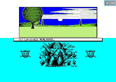 Title screen of the game Sapiens on Amstrad CPC