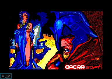 Title screen of the game Ulises on Amstrad CPC