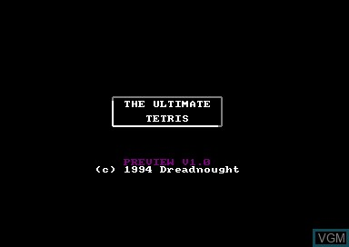 Title screen of the game Ultimate Tetris on Amstrad CPC