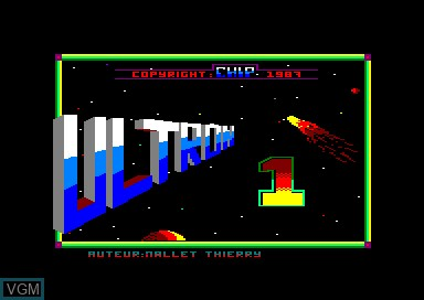 Title screen of the game Ultron 1 on Amstrad CPC