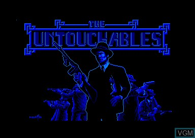 Title screen of the game Untouchables, The on Amstrad CPC