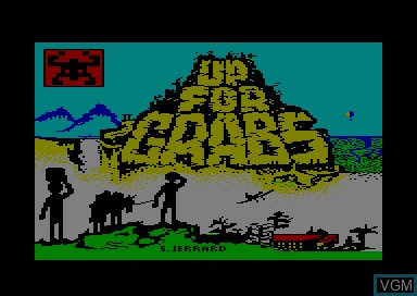 Title screen of the game Up For Grabs on Amstrad CPC