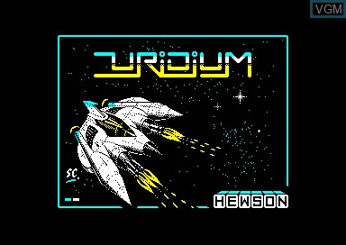 Title screen of the game Uridium on Amstrad CPC