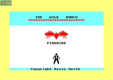 Title screen of the game Wild Bunch, The on Amstrad CPC