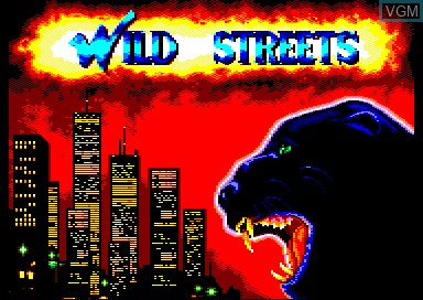 Title screen of the game Wild Streets on Amstrad CPC