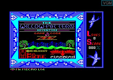 Title screen of the game Willow Pattern Adventure, The on Amstrad CPC