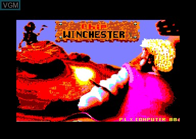 Title screen of the game Winchester on Amstrad CPC