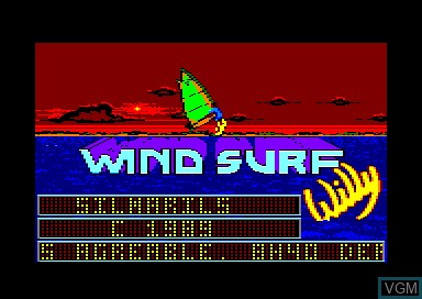 Title screen of the game Windsurf Willy on Amstrad CPC