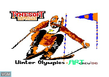Title screen of the game Winter Olympics on Amstrad CPC