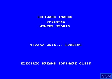 Title screen of the game Winter Sports on Amstrad CPC